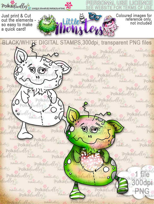 Little Monsters Manny digi stamp download