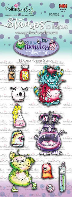 Little Monsters Stamp set - Freaky
