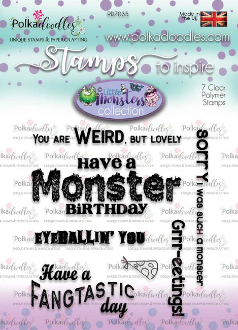 Little Monsters stamp set - monster messages