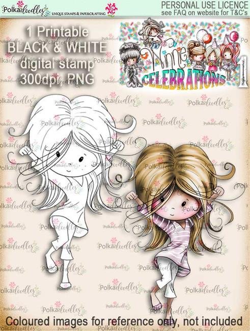 Winnie Celebrations 1...Hooray hands up digi stamp printable download