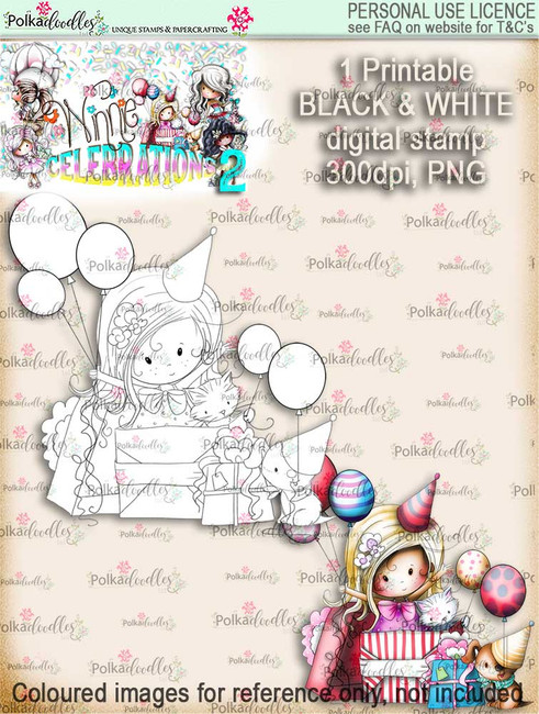 Surprise! digi stamp printable download - Winnie Celebrations 2