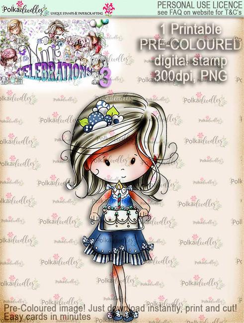 Winnie Celebrations 3...Baked You A Cake COLOURED digi stamp printable download