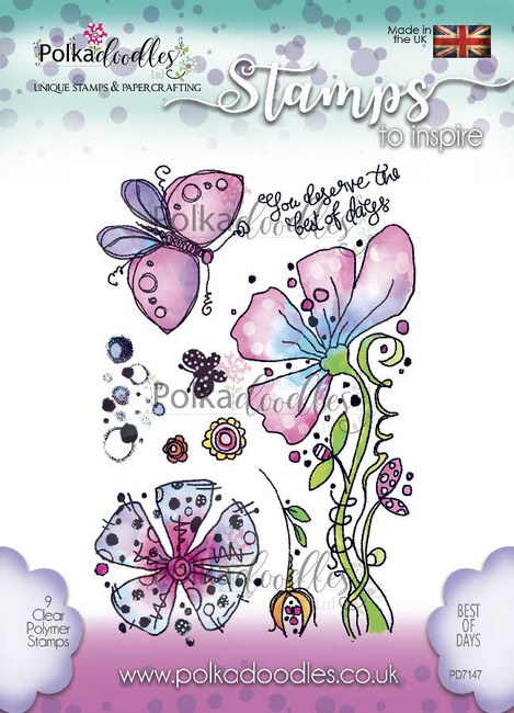 Best of Days Clear Stamp set - 9 stamps