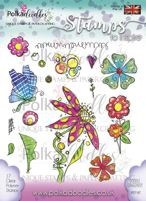 Doodle Dragonfly Clear Stamp Set