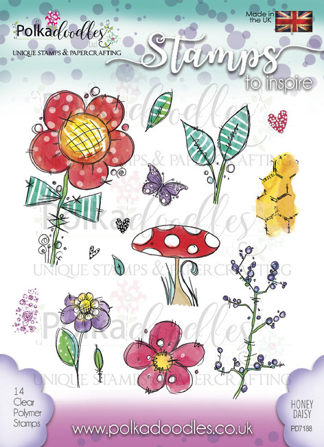 Honey Daisy Clear Stamp Set