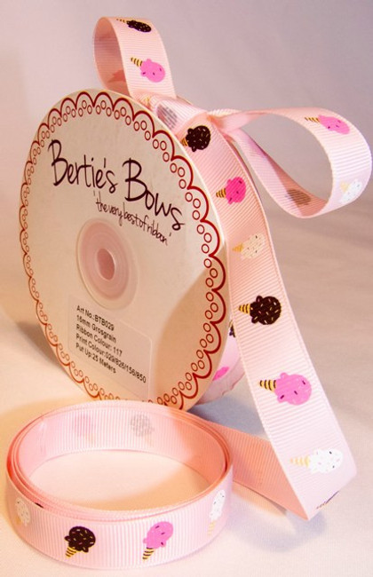 Ice Cream grosgrain ribbon x 1 metre 16mm