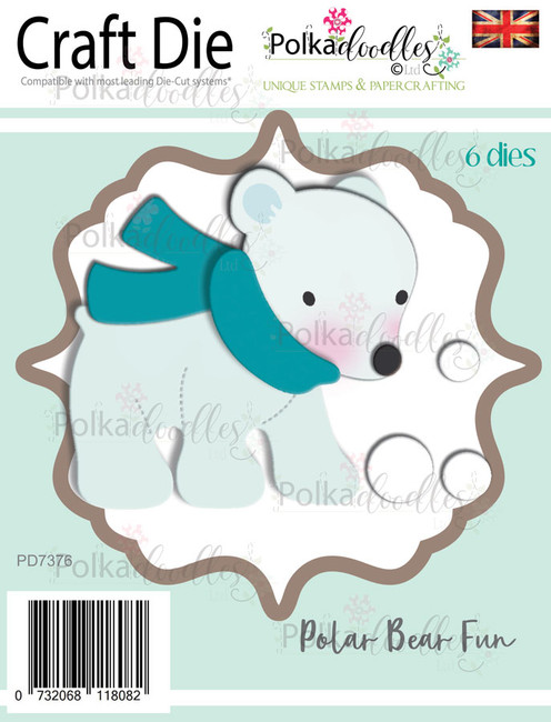 Polar Bear fun - Christmas Holiday Craft cutting die
