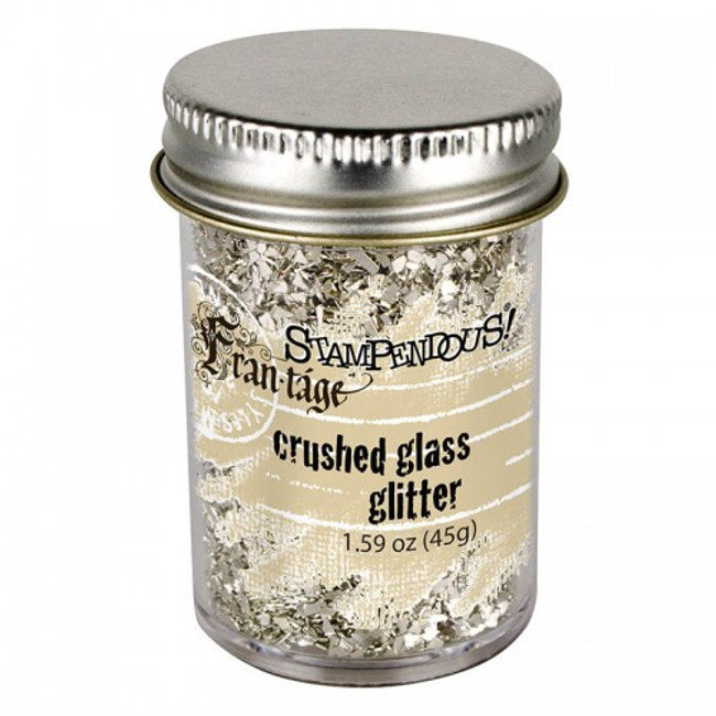Frantage Silver Glass Crushed glitter by Stampendous