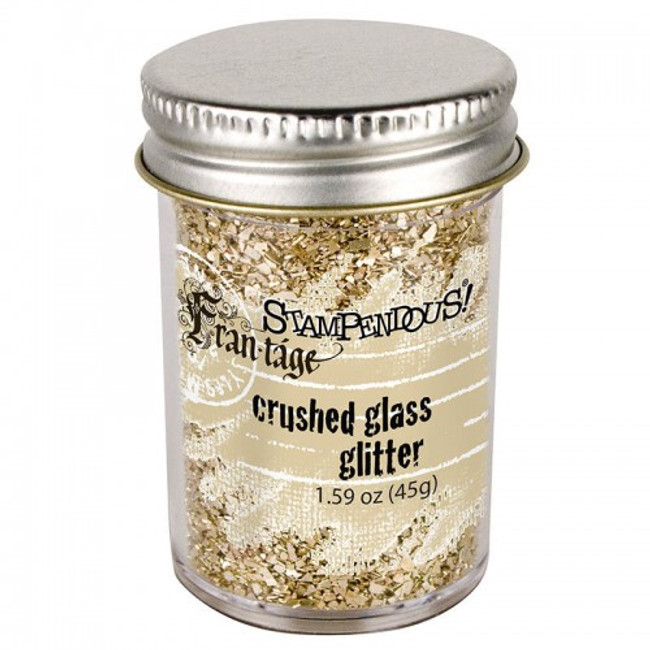 Frantage Champagne Glass Crushed glitter by Stampendous