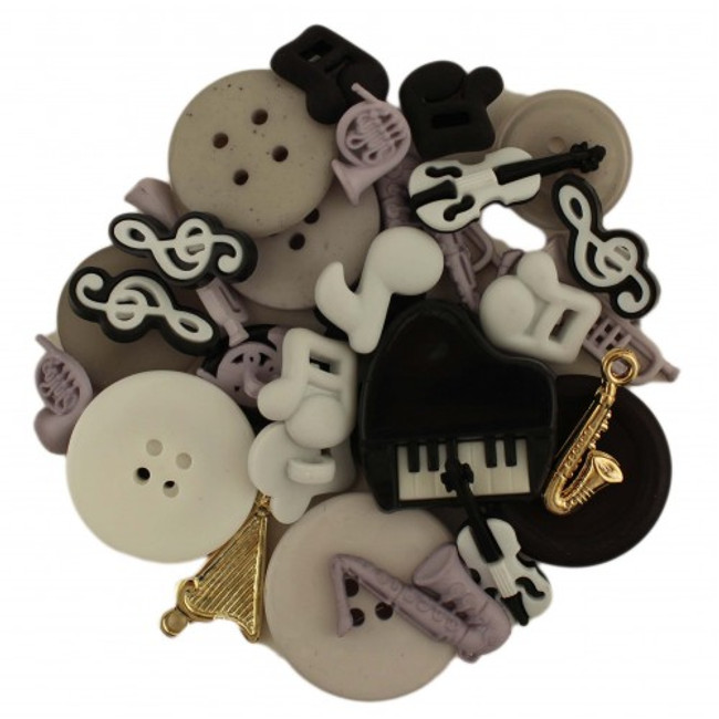 Music themed button pack