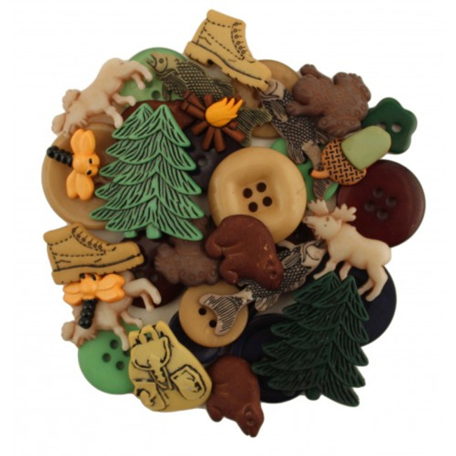Outdoors/nature/woodland themed button pack