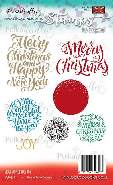 Most Wonderful Joy - sentiment Stamp set