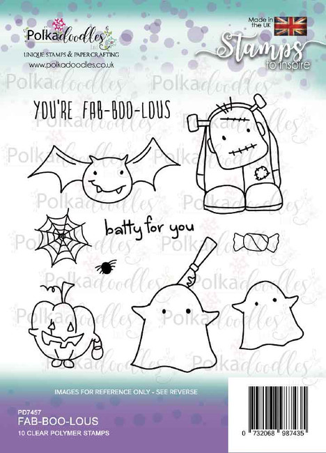 Fab-boo-lous  Halloween clear stamp set