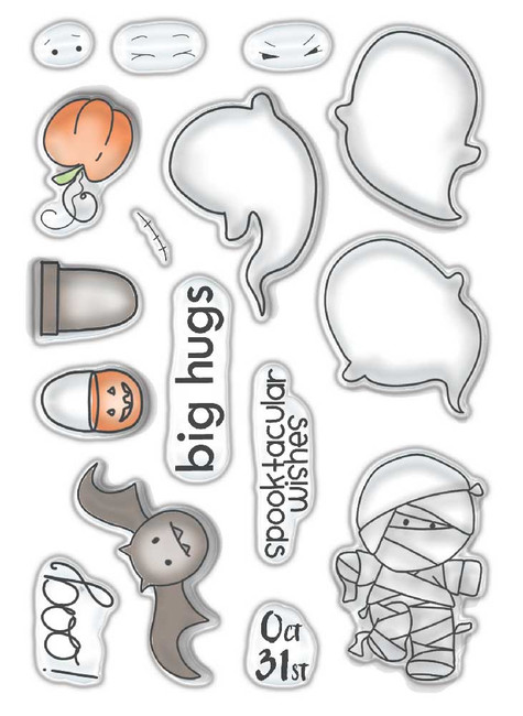Spooktacular - Halloween clear stamp set