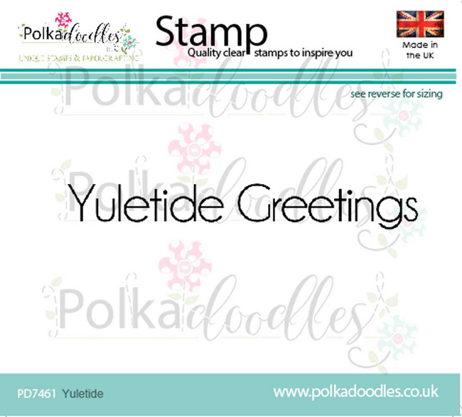 Yuletide Greetings Christmas Clear Polymer Stamp