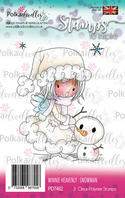Snowman - Winnie Heavenly Clear Stamp set