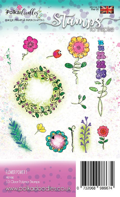 Flower Power 1 - clear stamp set