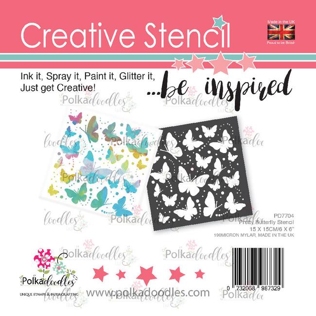 Pretty Butterfly creative craft stencil