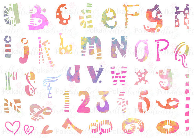 Funky Alphabet - A5 creative craft stencil