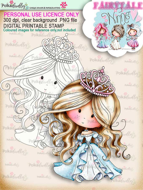 Winnie Belle of the Ball Fairytale digi stamp download