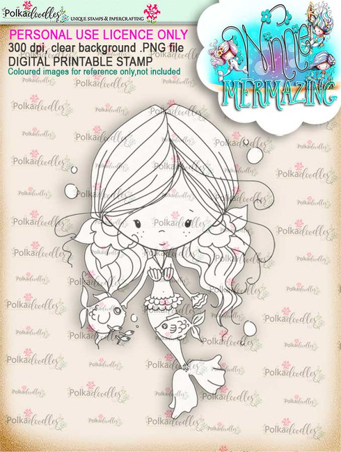 Winnie Mermaid Mermazing - Kisses digital stamp download