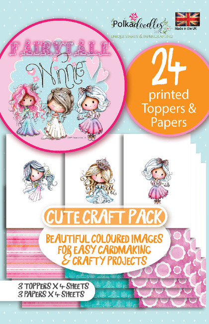 Winnie Fairytale Printed Topper pack - 24 sheets