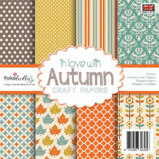 "in love with AUTUMN 6 x 6"" paper pack"