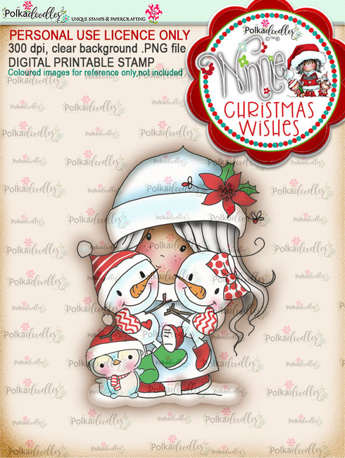 Friendly Cuddle (colour) - Winnie Christmas Wishes digi scrap printable download