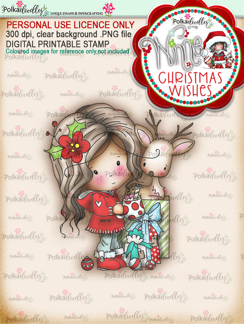 All Wrapped Up (colour) - Winnie Christmas Wishes digi scrap printable download