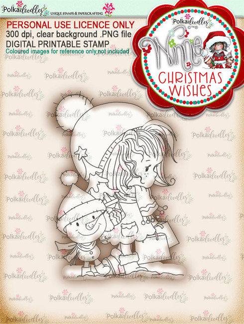 Snow Shopping - Winnie Christmas Wishes digi scrap printable download