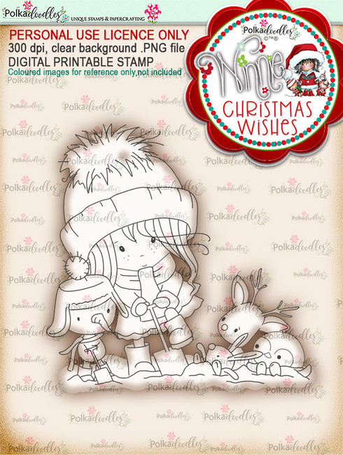 Helping Hands - Winnie Christmas Wishes digi scrap printable download