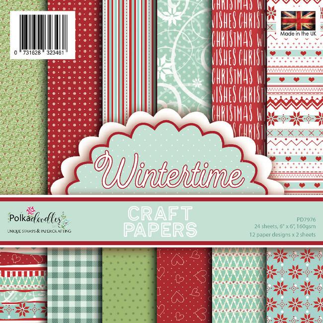 "Wintertime 6 x 6"" paper pack"