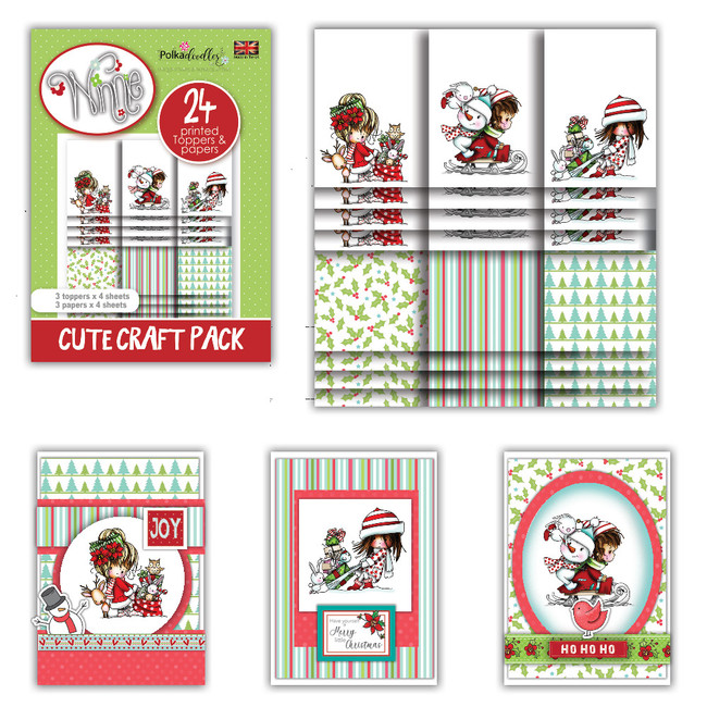Winnie Winter Wishes - Cute Craft Topper Pack