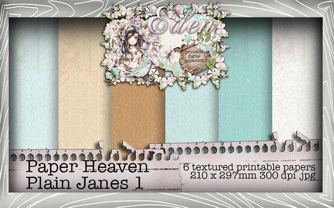 Eden  - Paper Heaven Plain Jane 1 Digital Craft Download