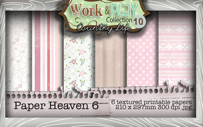 Work & Play 10 Collection - Paper Heaven 6 Digital Craft Download Bundle