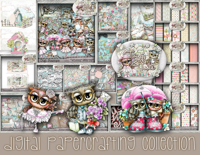 Twiggy & Toots Owl printable Download Collection
