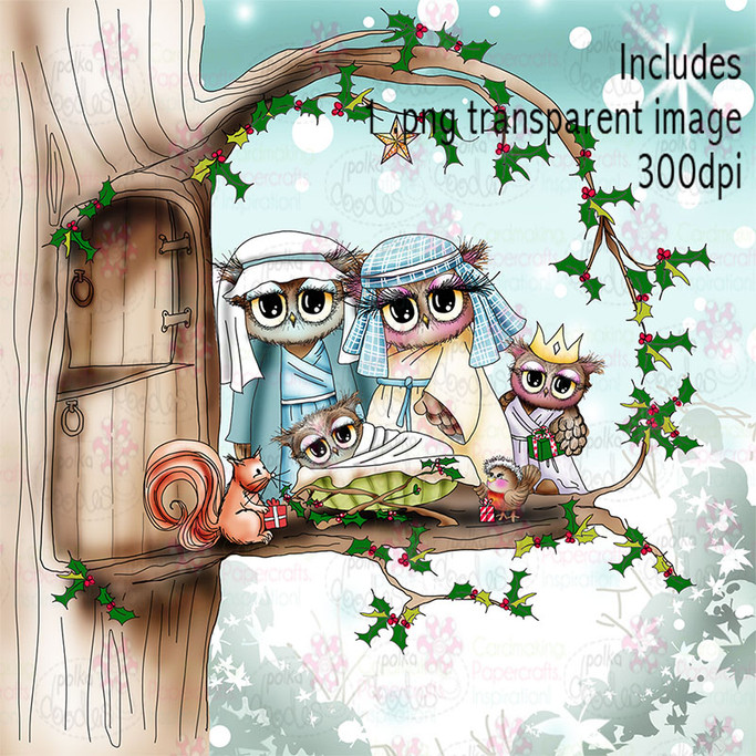 Nativity - Twiggy & Toots - Digital Craft Stamp Download