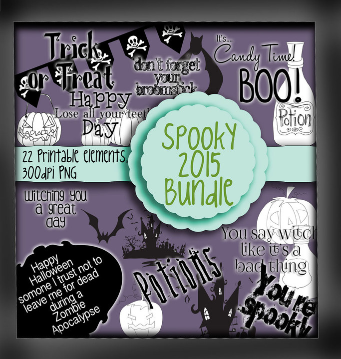 Spooky Sentiments - digital download bundle