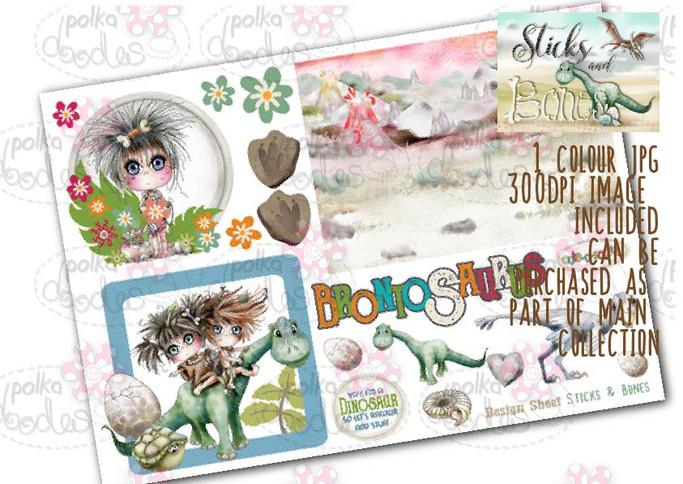 Sticks & Bones - Design Sheet 7  - Digital CRAFT Download