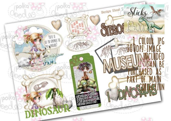 Sticks & Bones - Design Sheet 10  - Digital CRAFT Download