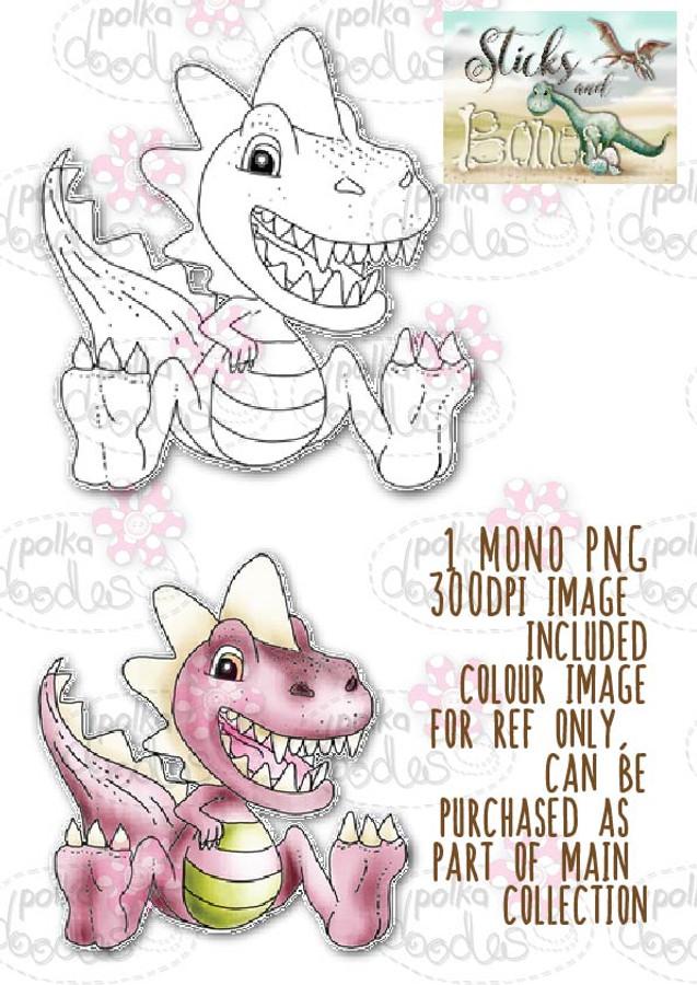 Sticks & Bones - Dinosaur 2 - Digital Stamp CRAFT Download