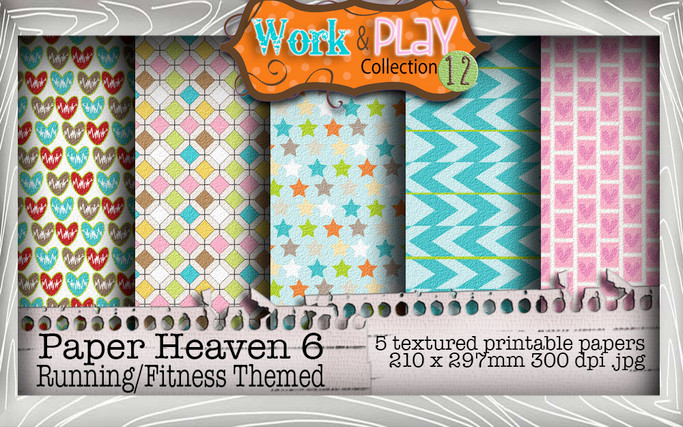 Work & Play 12 Paper Heaven 6 bundle kit - Male fitness (5 papers)