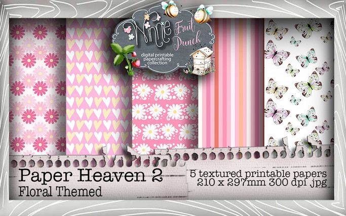 Winnie Fruit Paper Heaven 2 Bundle - Printable Crafting Digital Stamp Craft Scrapbooking Download