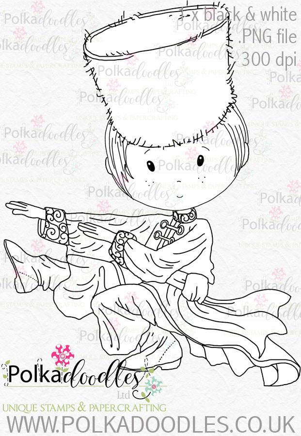 Cossack Russian Dancer 1 - Digital Stamp Download