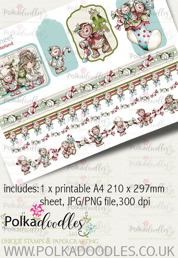 Baked With Love - Design Sheet 33 digital craft paper download