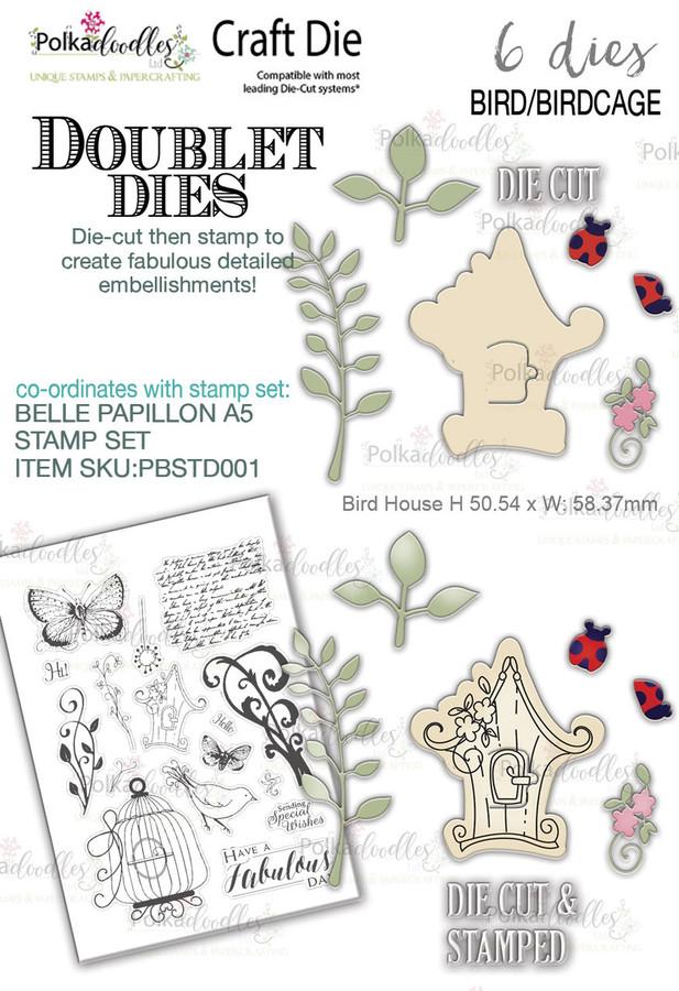Birdhouse 'DOUBLET' 6 set - Craft Cutting dies