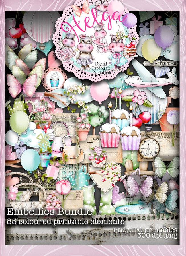 Helga Hippo Embellies download bundle