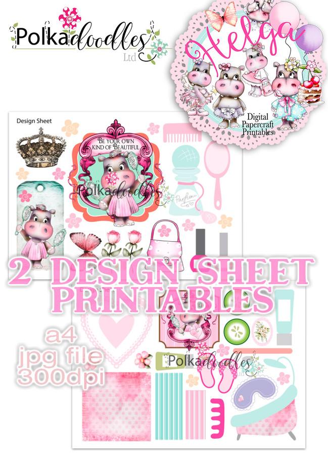 Helga Hippo - Design Sheet 4 Duo DOWNLOAD