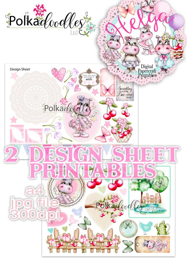 Helga Hippo - Design Sheet 8 Duo DOWNLOAD
