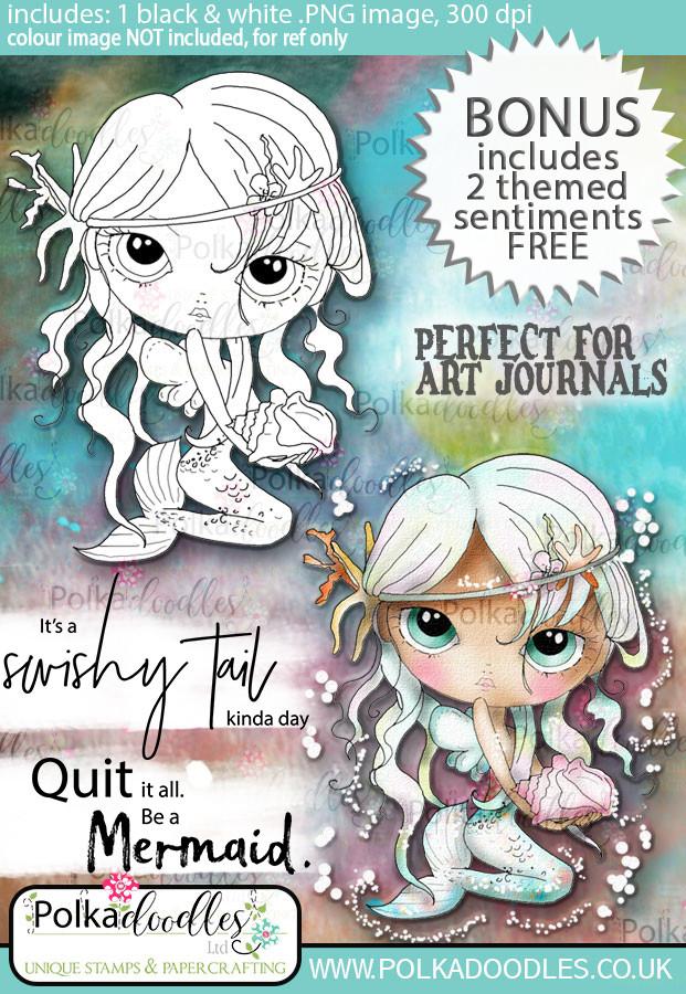 Ula be a mermaid - Life Journal craft digi download